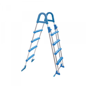 Azuro-Safety-Leiter-Edelstahl-4-stufig
