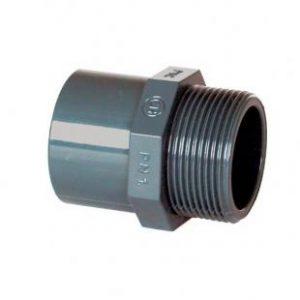 "PVC Übergangsnippel DA63 / DN50 x 2 ""ext."