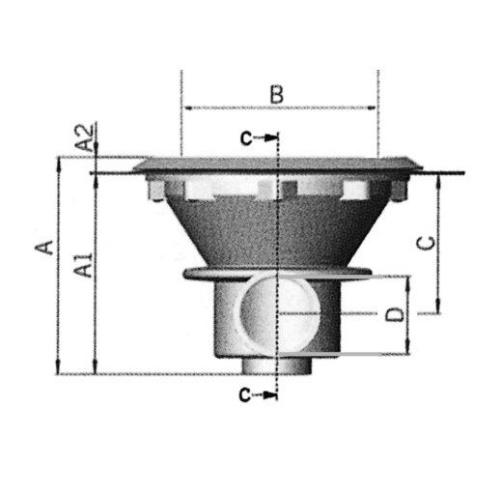 Freilufttraum ASTRAL Bodenablauf Skizze