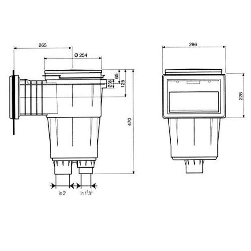 Freilufttraum ASTRAL Einbauskimmer 17,5l Skizze