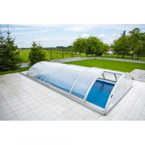 Poolüberdachung Mailand-TREND 3 inkl. Seitentür